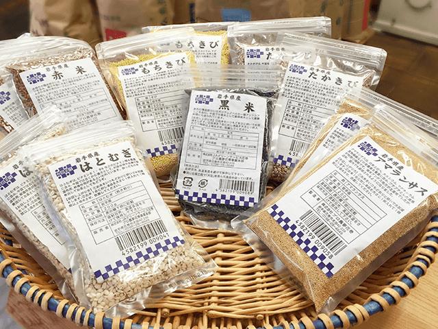 人気の赤米・黒米・雑穀